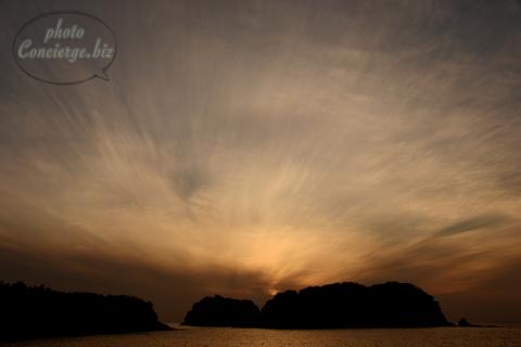 雑賀崎の夕陽