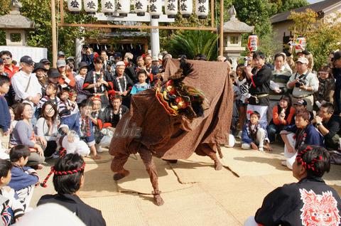 和歌山県指定無形文化財である木ノ本の獅子舞